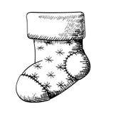 Kerstmissok - kunstvector Stock Afbeeldingen