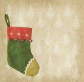 Kerstmissok met oud document Stock Afbeelding
