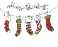 Kerstmissokken Royalty-vrije Stock Foto's