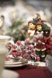 Kerstmisspeelgoed, helder die speelgoed, in retro stijl wordt gemaakt Stock Foto