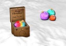 Kerstmisspeelgoed het 3d teruggeven Royalty-vrije Stock Fotografie