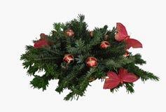 Kerstmisspeelgoed, kaarsen, spartakken Stock Foto