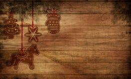 Kerstmisspeelgoed op houten achtergrond royalty-vrije stock fotografie
