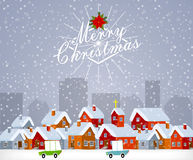 Kerstmisstad Royalty-vrije Stock Fotografie