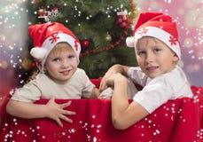 Kerstmisstemming stock foto's