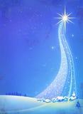 Kerstmisster royalty-vrije illustratie