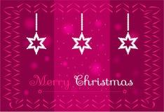 Kerstmissterren op een donkere roze achtergrond Stock Fotografie