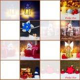 Kerstmisstickers, giftmarkeringen Stock Afbeeldingen