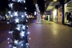 Kerstmisstraat Stock Foto