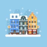 Kerstmisstraat van Europa Royalty-vrije Stock Foto's