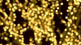 Kerstmisstraatlantaarns Close-upmening, onduidelijk beeld stock video