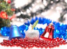 Kerstmisstuk speelgoed — appel Royalty-vrije Stock Fotografie