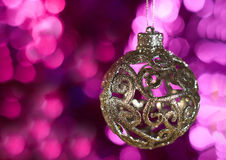 Kerstmisstuk speelgoed bal Stock Afbeelding
