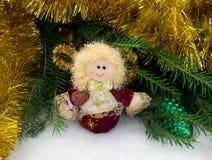 Kerstmisstuk speelgoed engel Stock Afbeeldingen