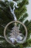 Kerstmisstuk speelgoed - spar Royalty-vrije Stock Foto's