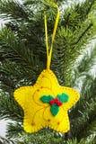 Kerstmisstuk speelgoed - ster Stock Foto