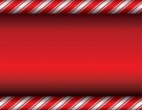 Kerstmissuikergoed Cane Red Background Royalty-vrije Stock Foto's