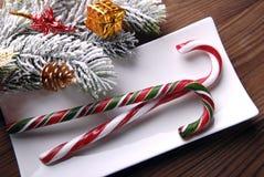 Kerstmissuikergoed en decoratie Royalty-vrije Stock Afbeelding