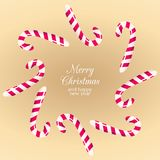 Kerstmissuikergoed en snoepjes stock fotografie