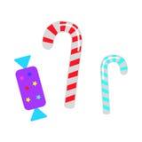 Kerstmissuikergoed Zoete Lollys en Bonbon vector illustratie