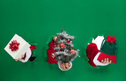 Kerstmissymbolen Stock Foto