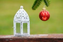 Kerstmistak en klokken Royalty-vrije Stock Fotografie