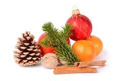 Kerstmistak en klokken Royalty-vrije Stock Afbeeldingen