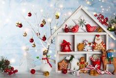 Kerstmistak en klokken Royalty-vrije Stock Afbeelding