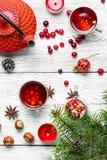 Kerstmisthee met Amerikaanse veenbes royalty-vrije stock foto's
