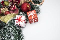Kerstmisthema, lichte achtergrond Royalty-vrije Stock Afbeeldingen