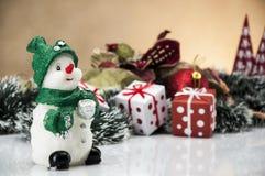 Kerstmisthema, lichte achtergrond Stock Foto