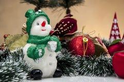 Kerstmisthema, lichte achtergrond Royalty-vrije Stock Foto's