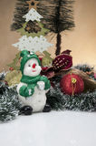 Kerstmisthema, lichte achtergrond Royalty-vrije Stock Foto