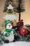 Kerstmisthema, lichte achtergrond Royalty-vrije Stock Afbeelding
