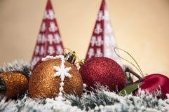 Kerstmisthema met Kerstmisdecoratie Royalty-vrije Stock Afbeelding