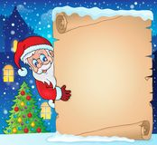 Kerstmisthema 1 van het de winterperkament Stock Fotografie