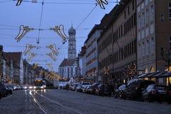 Kerstmistijd Augsburg stock fotografie