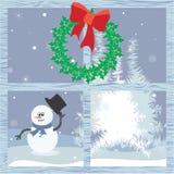 Kerstmistijd door het venster Stock Afbeelding