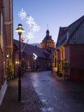 Kerstmistijd in Duitsland stock foto's