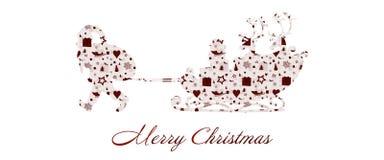 Kerstmistijd - kaartstijl stock illustratie