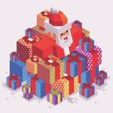 Kerstmistijd met Kerstman Royalty-vrije Stock Foto's