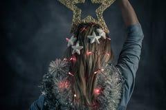 Kerstmistijd, moderne Snowwhite Royalty-vrije Stock Afbeeldingen