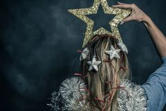 Kerstmistijd, moderne Snowwhite Stock Afbeelding