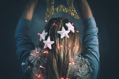 Kerstmistijd, moderne Snowwhite Stock Fotografie