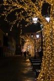 Kerstmistijd in Moskou Stock Fotografie