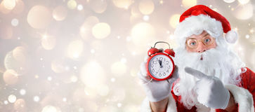 Kerstmistijd - Santa Claus Royalty-vrije Stock Foto