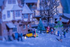 Kerstmistijd tijdens een wintertijd in westelijk land Royalty-vrije Stock Foto