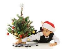 Kerstmistrein royalty-vrije stock fotografie