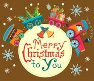 Kerstmistrein Royalty-vrije Stock Afbeelding