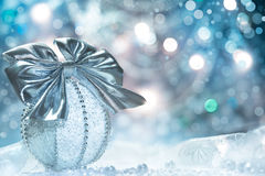 Kerstmistrinket, tekstruimte Stock Fotografie